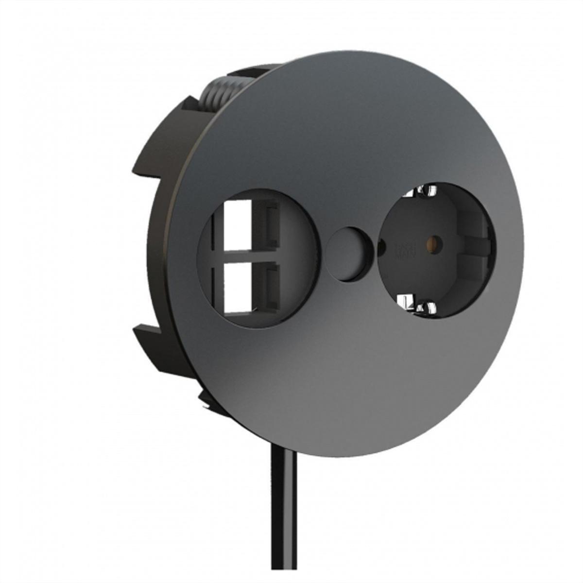 prodigital Bu. Bu. cavo IEC 320-C14 7,5 cm black - Schuko